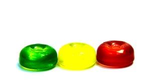 Леденцы на палочке конфеты изолированные на белизне Стоковое Изображение RF
