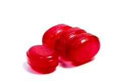Леденцы на палочке конфеты на белизне Стоковые Изображения