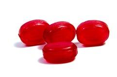 Леденцы на палочке конфеты на белизне Стоковые Изображения RF