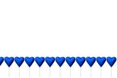 Леденцы на палочке шоколада в форме сердц Стоковые Фотографии RF