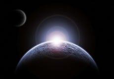 Ледистая планета иллюстрация вектора