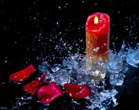 Лед и пламя Стоковое Изображение
