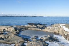Лед морем в зиме Стоковые Изображения RF