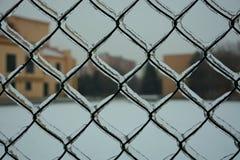 Лед на загородке Стоковое Изображение