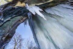 Лед на утесах Стоковое Изображение
