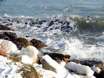 Ледниковое временя в Чёрном море стоковая фотография rf