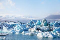 Ледниковое озеро в Исландии Стоковые Изображения RF