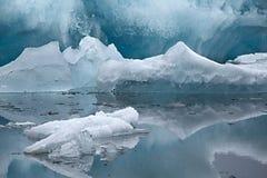 Ледниковое озеро в Исландии Стоковое Изображение RF