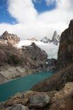 Ледниковое озеро в Патагонии Стоковое Изображение