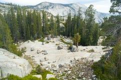 Ледниковые валуны на Yosemite Стоковые Фото