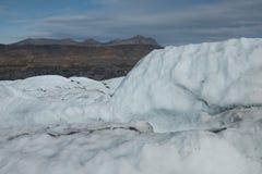 Ледник Аляска Matanuska стоковое изображение