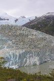 Ледник возглавляя вниз от гор Стоковые Фото