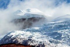 Ледник вулкана Котопакси Стоковые Изображения RF