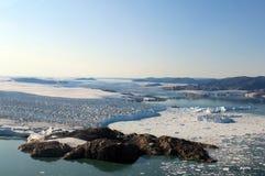 Ледник выхода, северо-западная Гренландия Стоковая Фотография RF