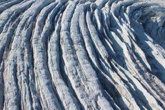 Ледник выхода, crevasses, северо-западная Гренландия Стоковое Фото