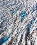 Ледник выхода, crevasses, северо-западная Гренландия Стоковое Изображение