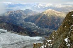 Ледник в высоких горах Стоковые Изображения