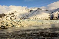 Ледник в Исландии в зиме Стоковая Фотография