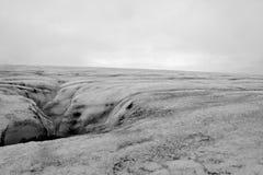 Ледник в осени, Исландия Votnajokull Стоковое Изображение