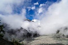 Ледник, гора Gongga снега стоковые изображения rf