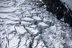 Ледник на горная цепь Монблана в Шамони, Франции Стоковые Фотографии RF