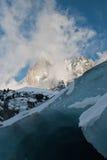 Ледник на Ла Mer de Glace Стоковые Изображения RF
