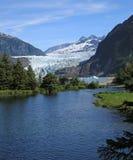 Ледник & озеро Mendenhall стоковое фото rf