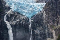 Ледник смертной казни через повешение национального парка Queulat, Чили Стоковая Фотография