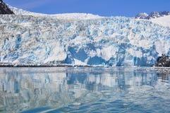 Ледник Aialik, национальный парк фьордов Kenai (Аляска) Стоковое Изображение RF