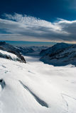 Ледник Aletsch на Jungfraujoch Стоковые Изображения RF