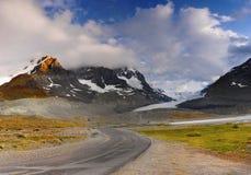 Ледник Athabasca, Колумбия Icefield стоковая фотография rf