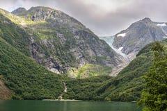 Ледник Buerbreen, Норвегия Стоковая Фотография RF