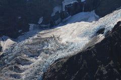 Ледник Donne, южные Альпы Стоковое Изображение