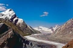 Ледник Drang-Drung около пропуска PenziLa, Zanskar, Ladakh, Джамму и Кашмир, Индии Стоковое фото RF