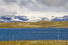 Ледник Hardangerjokulen в Норвегии Стоковые Фото