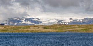 Ледник Hardangerjokulen в Норвегии Стоковое Изображение RF