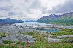 Ледник Matanuska в Аляске Стоковое Изображение RF