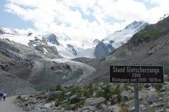 Ледник Morteratsch Стоковое Изображение RF