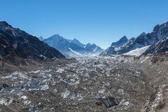 Ледник Ngozumpa в национальном парке Sagarmatha Стоковое фото RF