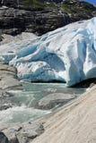 Ледник Nigardsbreen стоковое изображение rf
