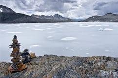 Ледник Pastoruri в Blanca кордильер Перу Стоковые Изображения RF