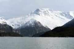 Ледник Pia на архипелаге Огненной Земли стоковое изображение
