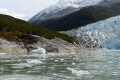 Ледник Pia на архипелаге Огненной Земли стоковое фото