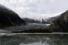 Ледник Pia на архипелаге Огненной Земли стоковое фото rf
