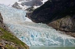 Ледник Serrano, Патагония, Чили стоковое изображение rf