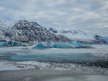 Ледник Skaftafellsjokull (национальный парк) Vatnajokull Исландия Стоковое Изображение RF