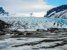 Ледник Skaftafellsjokull (национальный парк) Vatnajokull Исландия Стоковое Изображение