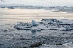 Ледник Skaftafellsjokull (национальный парк) Vatnajokull Исландия Стоковое фото RF