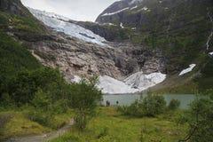 Ледник Suphellebreen, Норвегия стоковые изображения