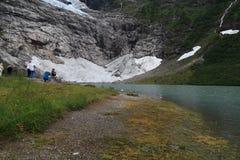 Ледник Suphellebreen, Норвегия стоковые фото